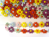DT04 13mm Multi Coloured Daisy Lace Trim