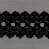 L521 35mm Black Eyelet or Knitting In Flat Lace