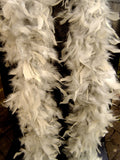 Feather Boa Grey Approx 1.7 metres Long