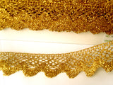 FT3110 36mm Dark Gold Metallic Lurex Lace