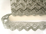 FT3111 36mm Silver Metallic Lurex Lace