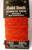 GLITHREAD18 Orange Decorative Glitter Thread, Washable, 10 Metre Card