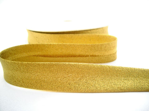 BB357 19mm Gold Metallic Lurex Bias Binding Tape