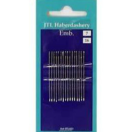 N028 Embroidery Hand Sewing Needles Size 7, 16 Needles