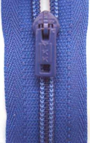 Z4615 YKK 10.5cm French Blue Nylon Pin Lock No.3 Closed End Zip - Ribbonmoon