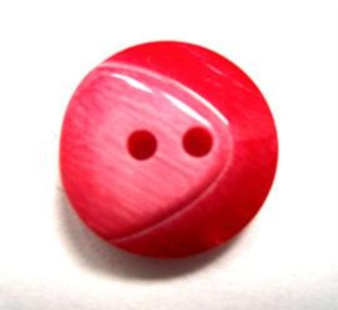 B15790 18mm Frosted Red Chunky Gloss 2 Hole Button - Ribbonmoon
