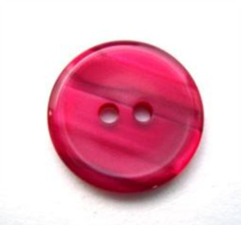 B14011 18mm Cardinal Red Variegated Polyester 2 Hole Button