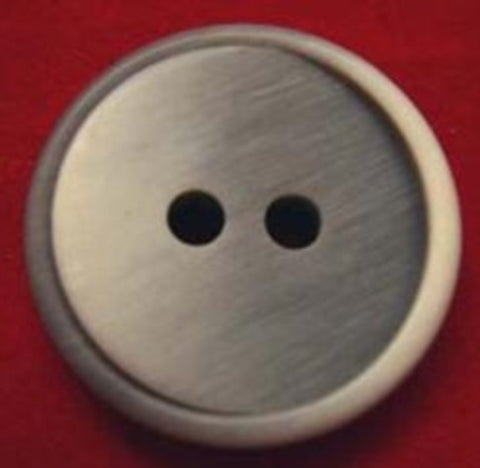 B17999 23mm Frosted Mid Grey Matt Bone Sheen 2 Hole Button - Ribbonmoon