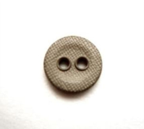 B13545 11mm Light Dull Khaki Lightly Textured Linen Effect 2 Hole Button - Ribbonmoon