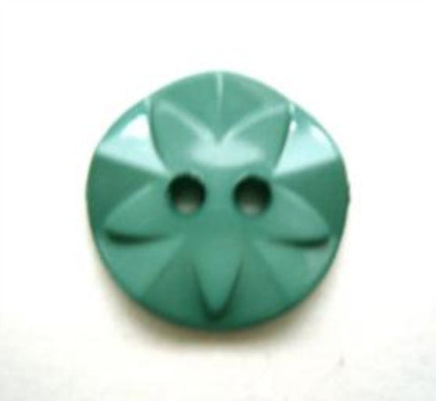 B10151 17mm Dusky Pale Jade Green Flower Design 2 Hole Button - Ribbonmoon