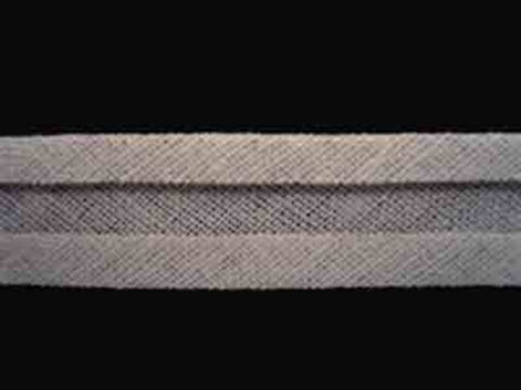 BB144 12mm Silver Grey 100% Cotton Bias Binding - Ribbonmoon