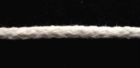 PCWHT04 6mm White 100% Cotton Piping Cord - Ribbonmoon