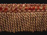 FT1012 46mm French Beige and Russet Bullion Fringe - Ribbonmoon