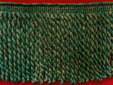 FT2004 19cm Forest Green and Pale Golden Brown Bullion Fringe