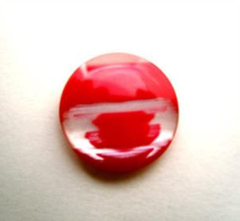 B14133 15mm Red and Pearl Variegated Shank Button - Ribbonmoon