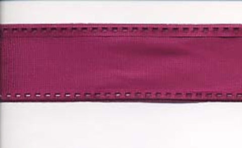 R0517 28mm Wine Tough Aceate Ribbon with Enforced Wired Edges - Ribbonmoon