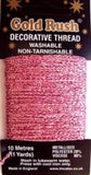 GLITHREAD09 Pink Decorative Glitter Thread, Washable,10 Metre Card - Ribbonmoon
