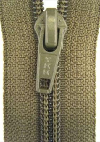 Z2739 YKK 69cm Army Green Nylon No.5 Open End Zip - Ribbonmoon