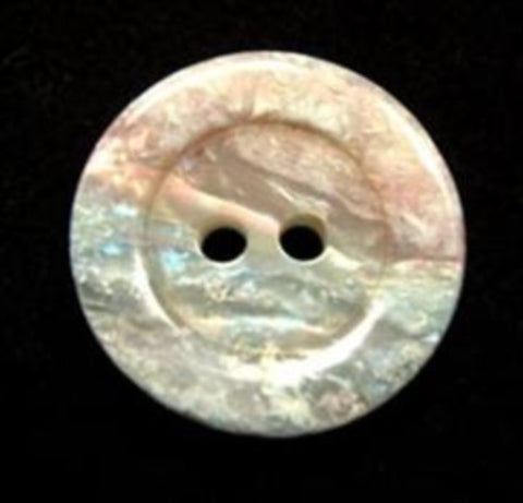 B16422 20mm Natural Marble Effect, Vivid Iridescent 2 Hole Button - Ribbonmoon