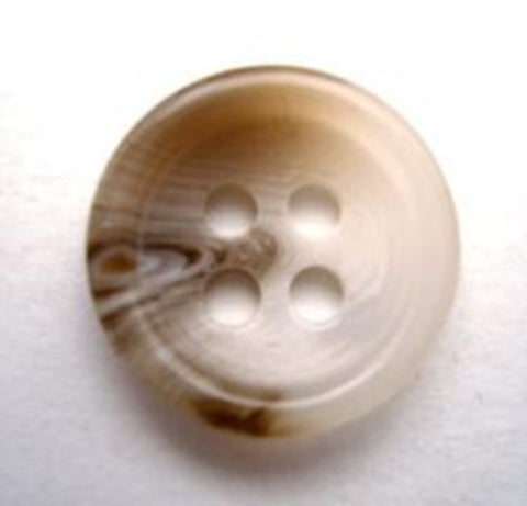 B9829 17mm Naturals and Browns Aaran 4 Hole Button - Ribbonmoon