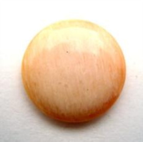 B16220 20mm Frosted Apricot Shank Button - Ribbonmoon