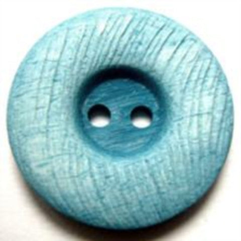 B10941 23mm Tonal Turquoise Blue Textured Matt 2 Hole Button - Ribbonmoon