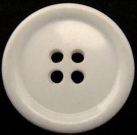 B10754 25mm Natural White Glossy 4 Hole Button - Ribbonmoon