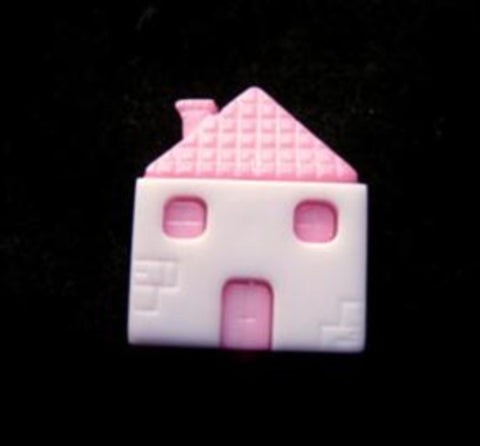 B17679 14mm House Shaped Novelty Shank Button - Ribbonmoon