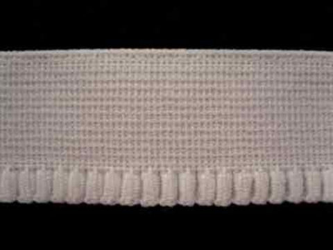 EW89 26mm White Woven Elastic with a Frilled Edge - Ribbonmoon