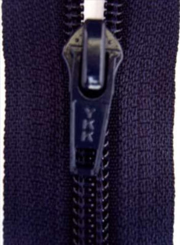 Z2786 YKK 40cm Deep Rich Navy Nylon No.5 Closed End Zip - Ribbonmoon