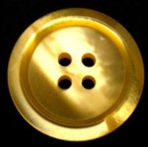 B10347 23mm Tonal Yellow Shimmery 4 Hole Button - Ribbonmoon