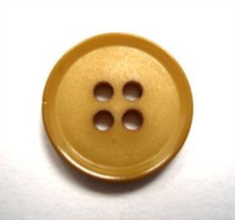 B15619 17mm Mustard Matt Centre 4 Hole Button - Ribbonmoon