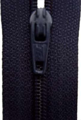 Z3553 25cm Midnight Navy Nylon No.3 Closed End Zip - Ribbonmoon