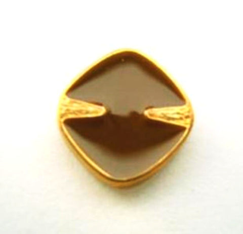 B15252 15mm Golden Brown and Gilded Dark Gold Poly Shank Button - Ribbonmoon