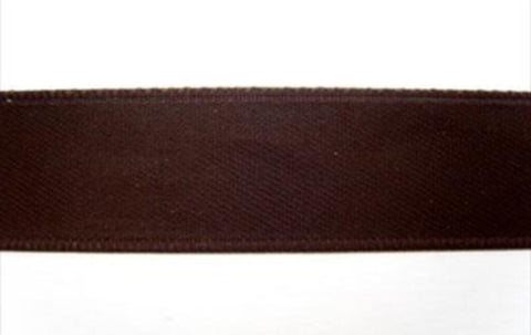R1888 16mm Very Dark Brown Double Faced Satin Ribbon by Offray - Ribbonmoon