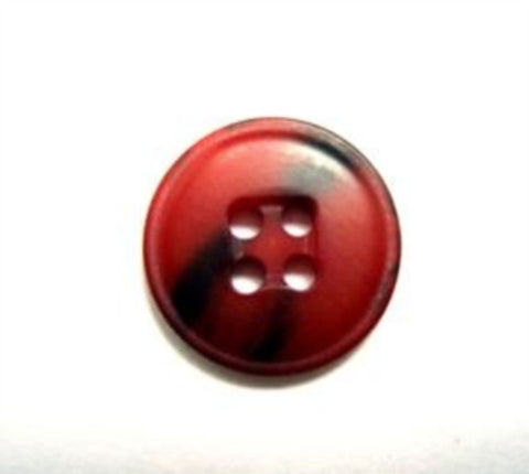 B15803 15mm Tonal Russet Red Soft Sheen 4 Hole Button - Ribbonmoon