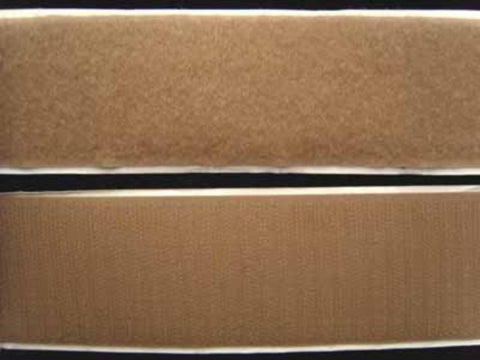 HL38 50mm Beige Self Adhesive Hook and Loop Fastening Tape - Ribbonmoon