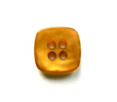 B17447 14mm Tonal Burnt Amber Shimmery 4 Hole Button