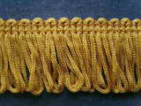 FT1032 28mm Old Gold Dense Looped Dress Fringe - Ribbonmoon