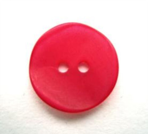 B13445 17mm Deep Magenta Iced Matt Sheen 2 Hole Button - Ribbonmoon
