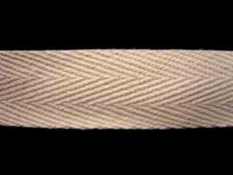 WTAPE17 20mm Natural Cream Herringbone Twill Tape 100% Cotton Webbing - Ribbonmoon