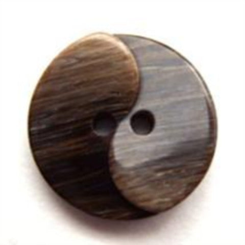 B11749 20mm Frosted Brown Goss 2 Hole Button - Ribbonmoon