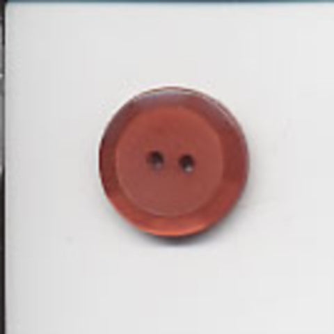 B1718 20mm Rust Iced Matt Centre and Pearlised Rim 2 Hole Button - Ribbonmoon