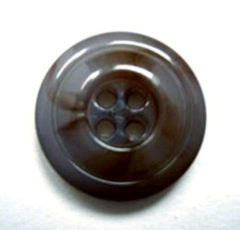 B15473 19mm Tonal Moonlight Blue and Brown 4 Hole Button - Ribbonmoon