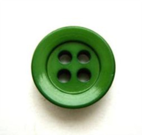 B10459 16mm Emerald Green Glossy 4 Hole Button - Ribbonmoon