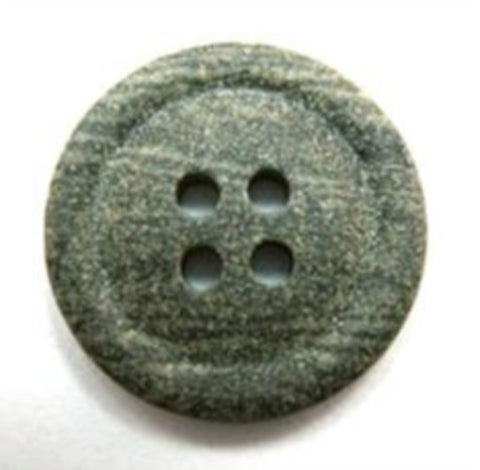B16302 20mm Smoked Green Grey Matt Stone Effect 4 Hole Button - Ribbonmoon