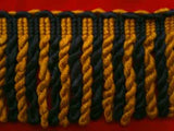 FT539 85mm Navy and Burnt Topaz Gold Bullion Fringe - Ribbonmoon