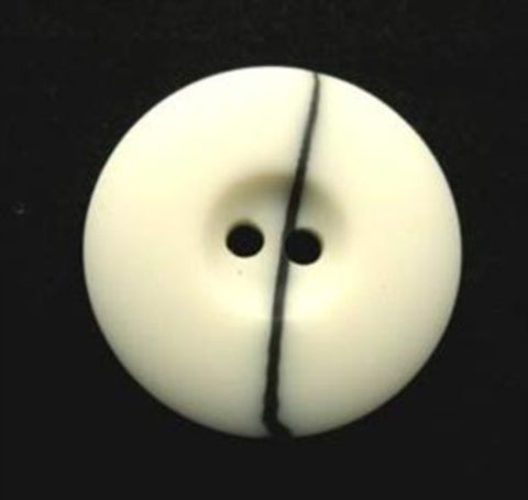 B16846 20mm Natural White and Black Vein Bone Sheen 2 Hole Button