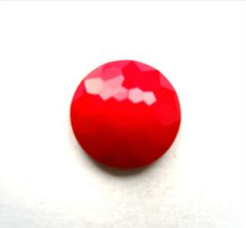 B11602 14mm Red Domed Honeycomb Shank Button - Ribbonmoon