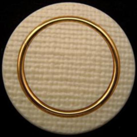 B10663 38mm Cream and Coppery Gold Button, Hole Built into the Back - Ribbonmoon